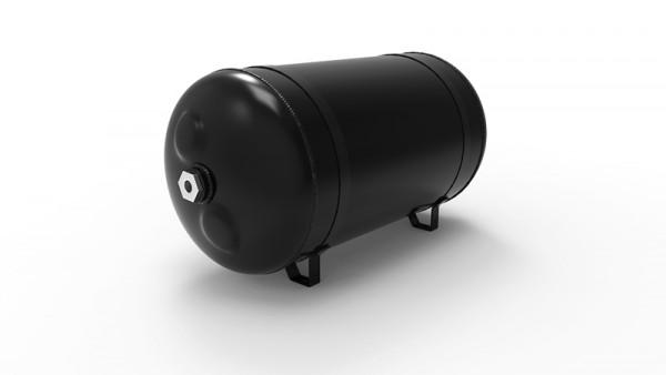 "airride supplies 15l Lufttank Aluminium, schwarz seidenmatt, 4x 3/8"""